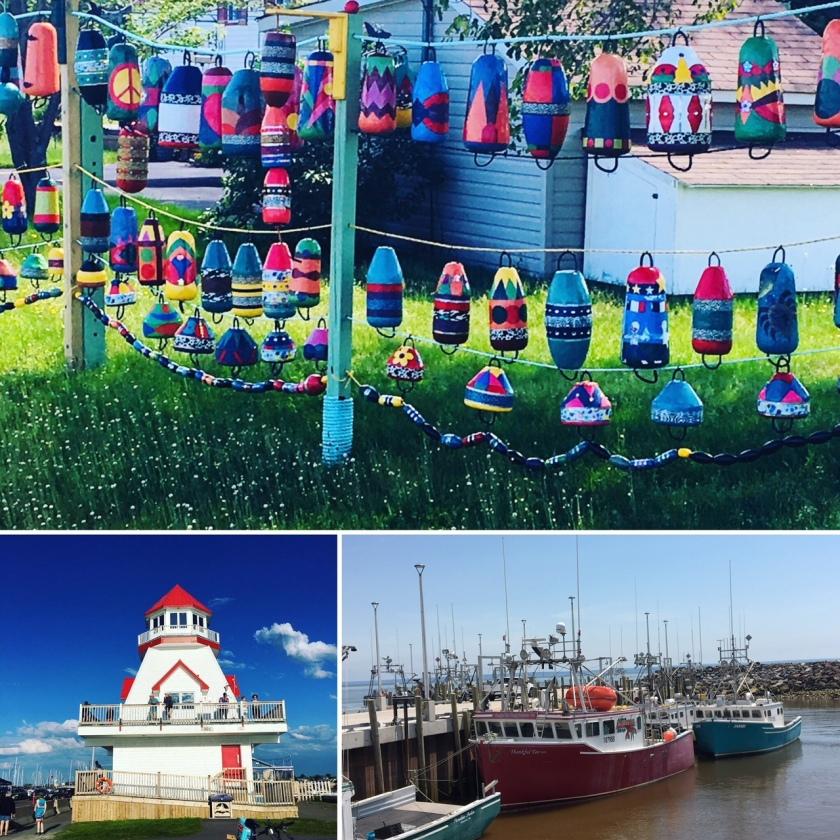 Buoys, Boats and Lighthouse