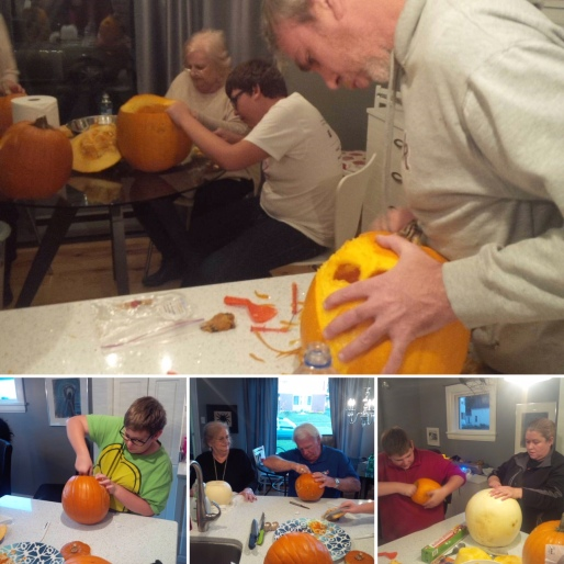 Family Pumpkin Carving